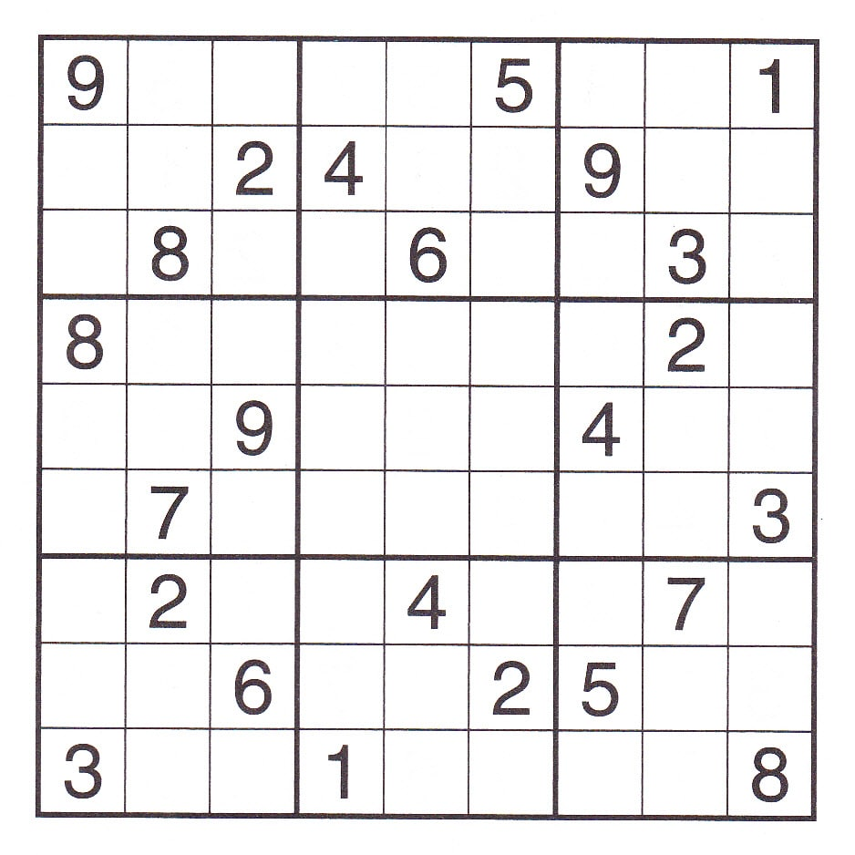 Very Hard Sudoku Printable