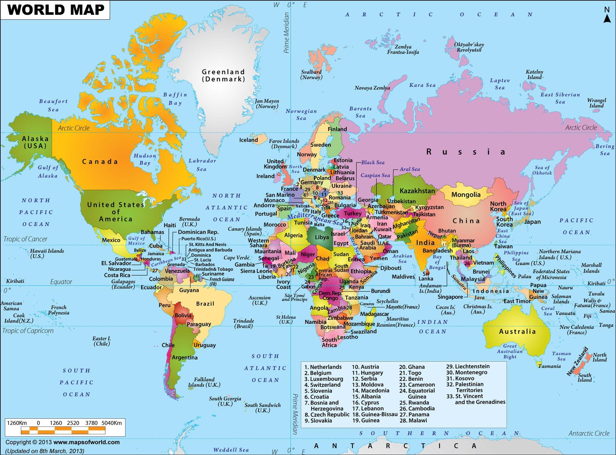 World Map HD