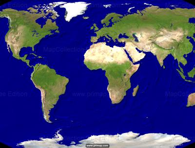 World Map Satellite Image