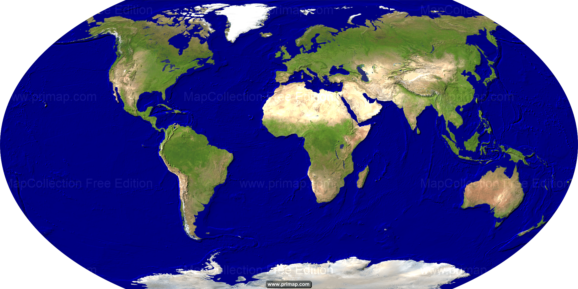World Map Satellite Image