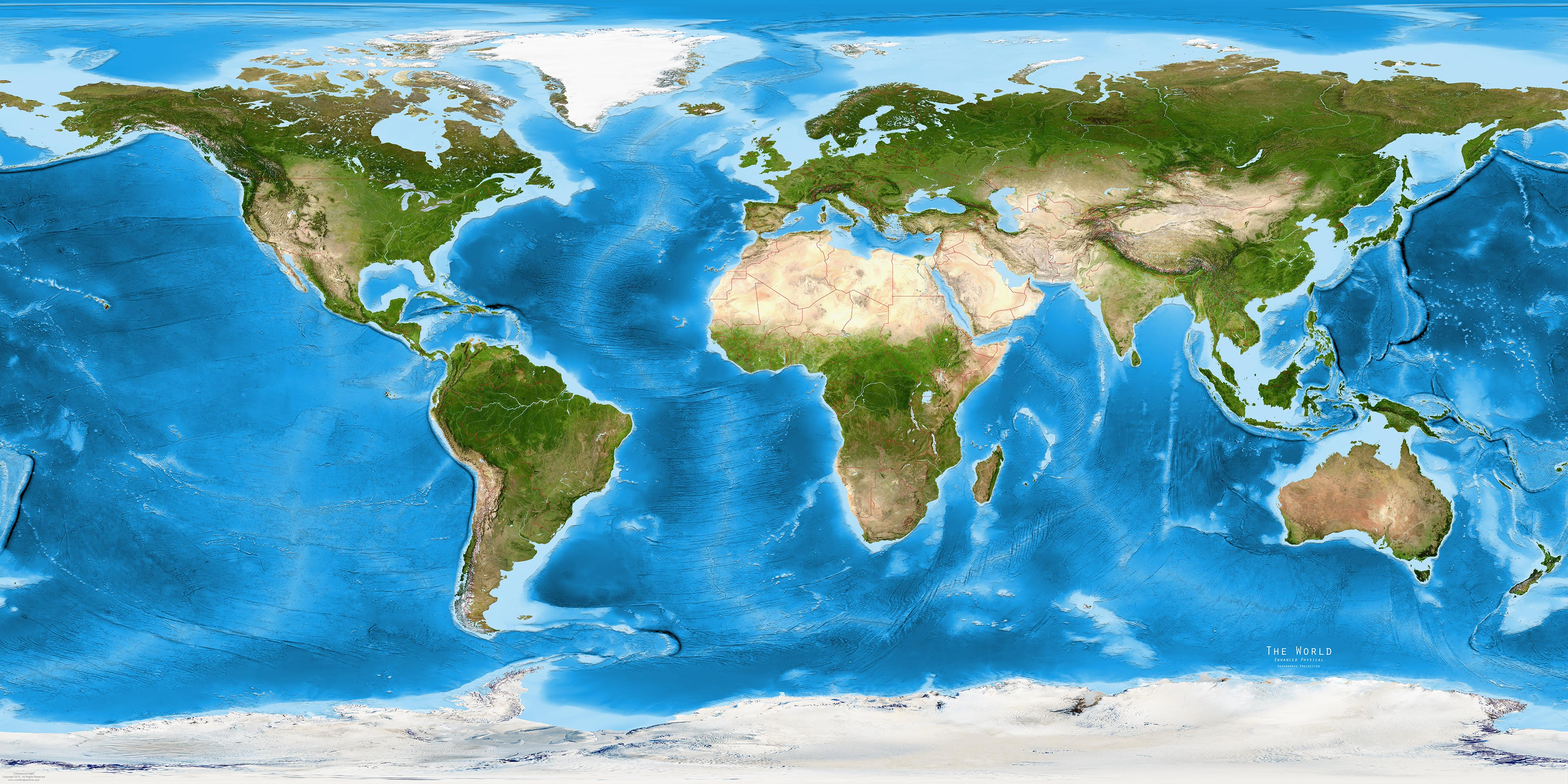 World Map Satellite India