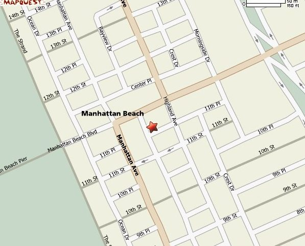 Street Map Manhattan Beaches