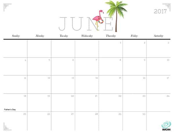 June 2017 Calendar Template