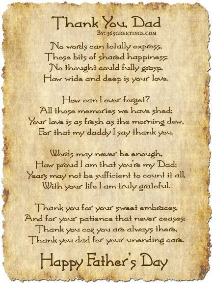 Download Fathers Day Poem