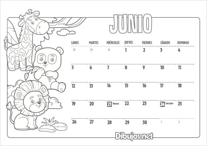 Download June 2017 Calendar In Spanish