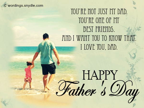 Father's day card message Pic