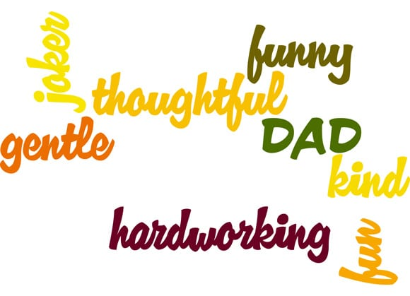 Father's day words Image