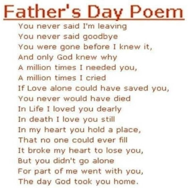 Fathers Day Free Poem