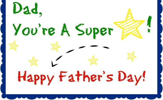 Fathers Day Greetings Card for Kids