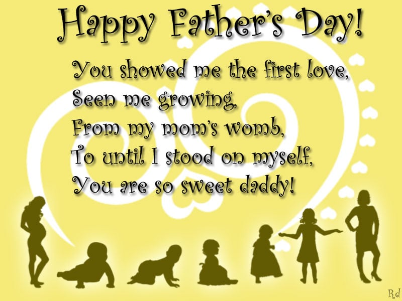 Fathers day message Image