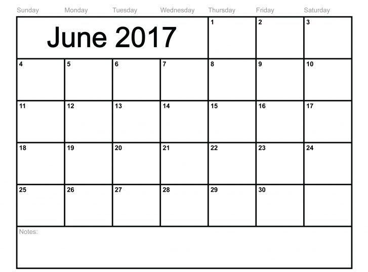 Free 2017 June Calendar Printable