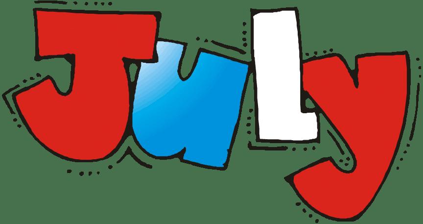 July Month 2017 Clip art Images