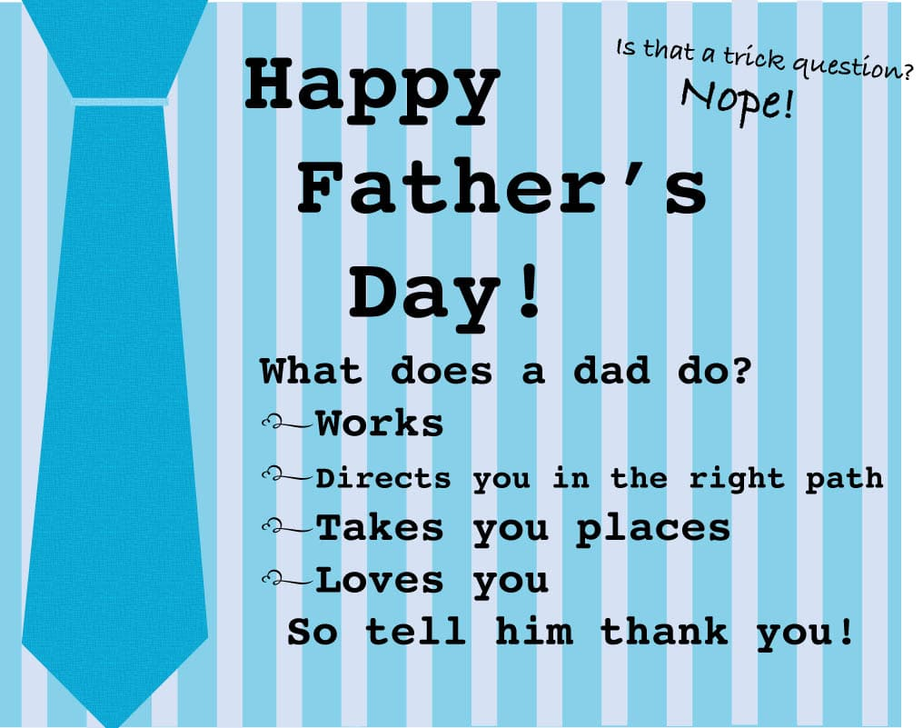 Happy Fathers Day Jokes Card
