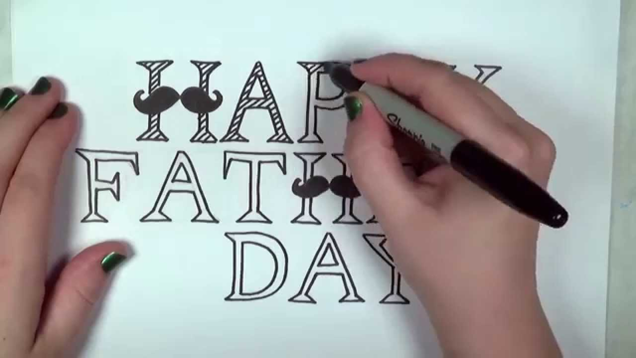 Happy fathers day drawing Art