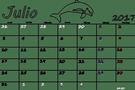 July 2017 Calendar In Spanish