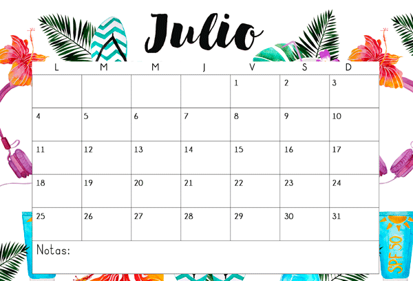 July 2017 Calendar In Spanish
