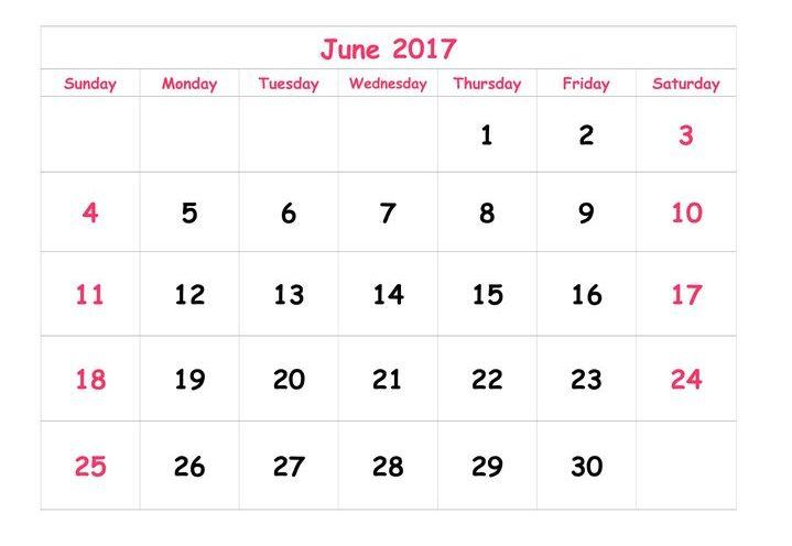 June 2017 Calendar In Telugu