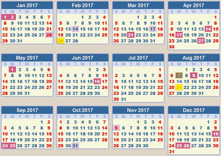 June 2017 Calendar With Holidays