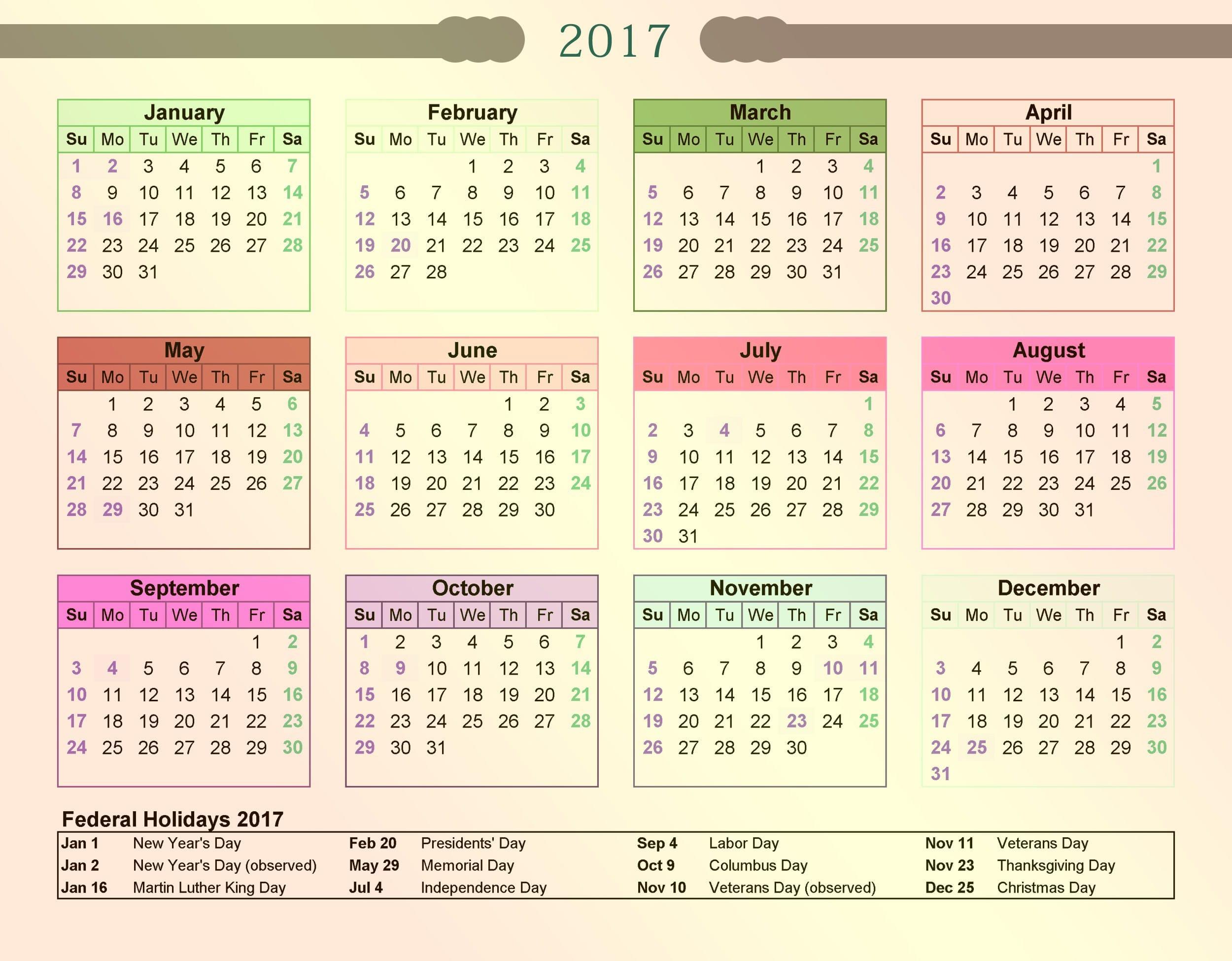 June 2017 Calendar With Public