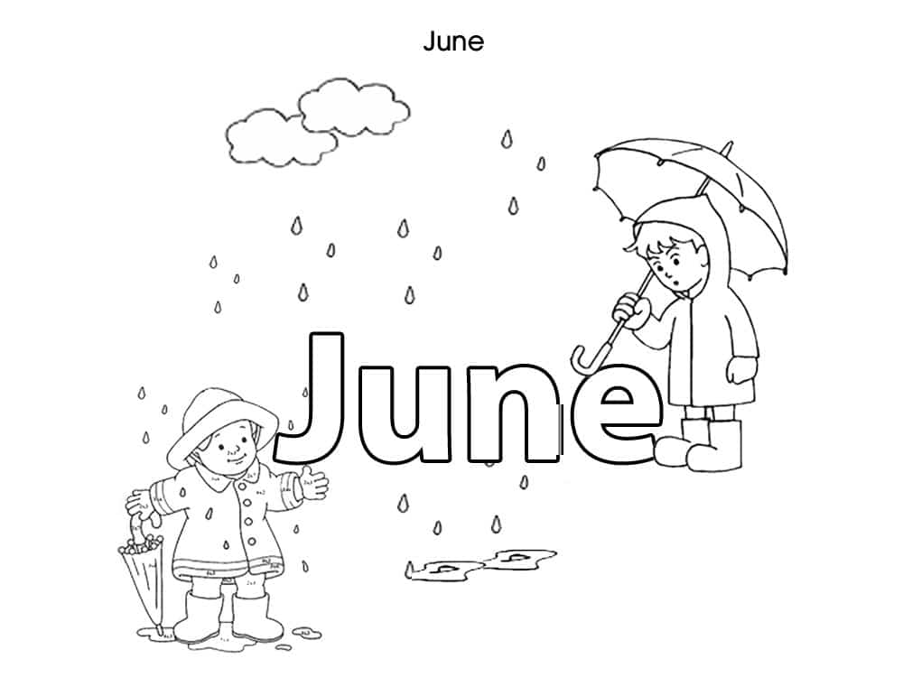 June Coloring Pages For Preschoolers