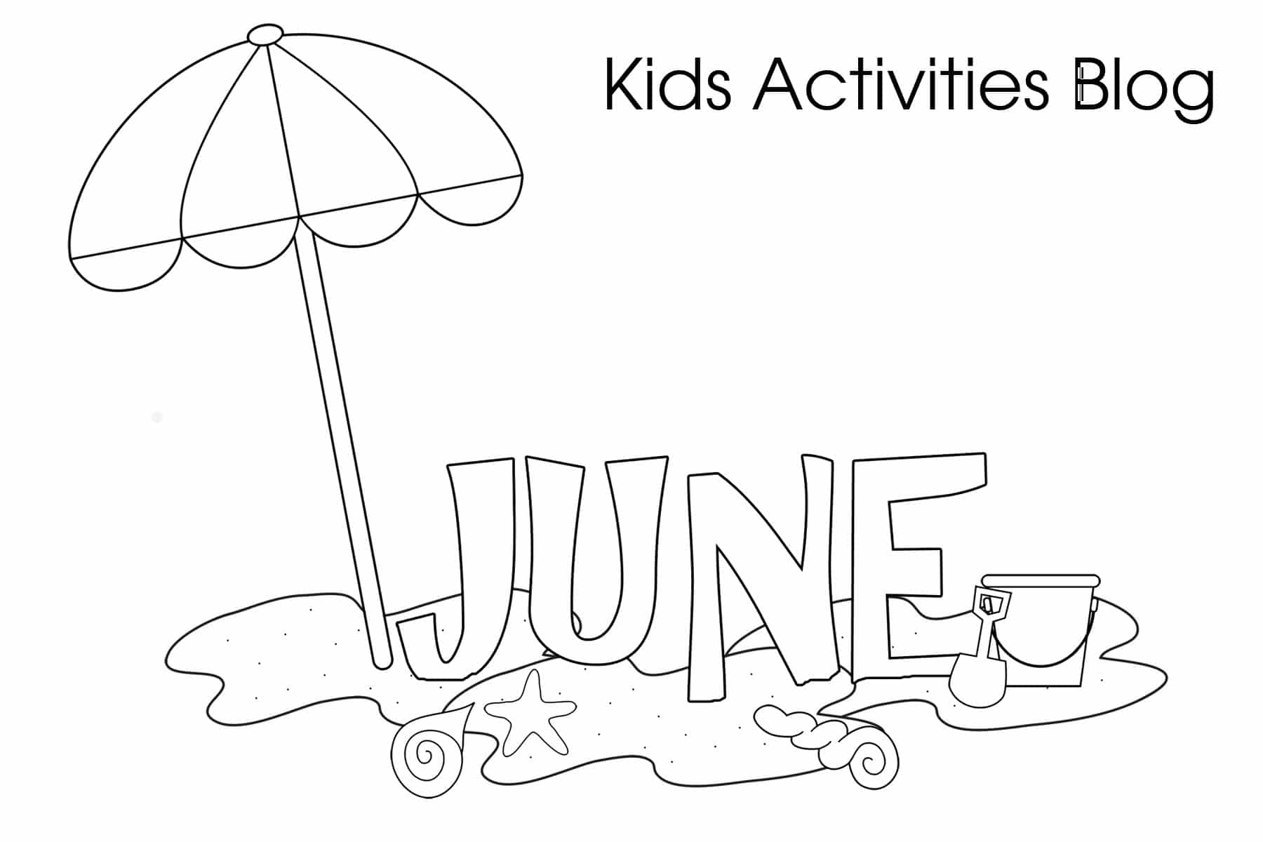 June Coloring Pages Preschoolers
