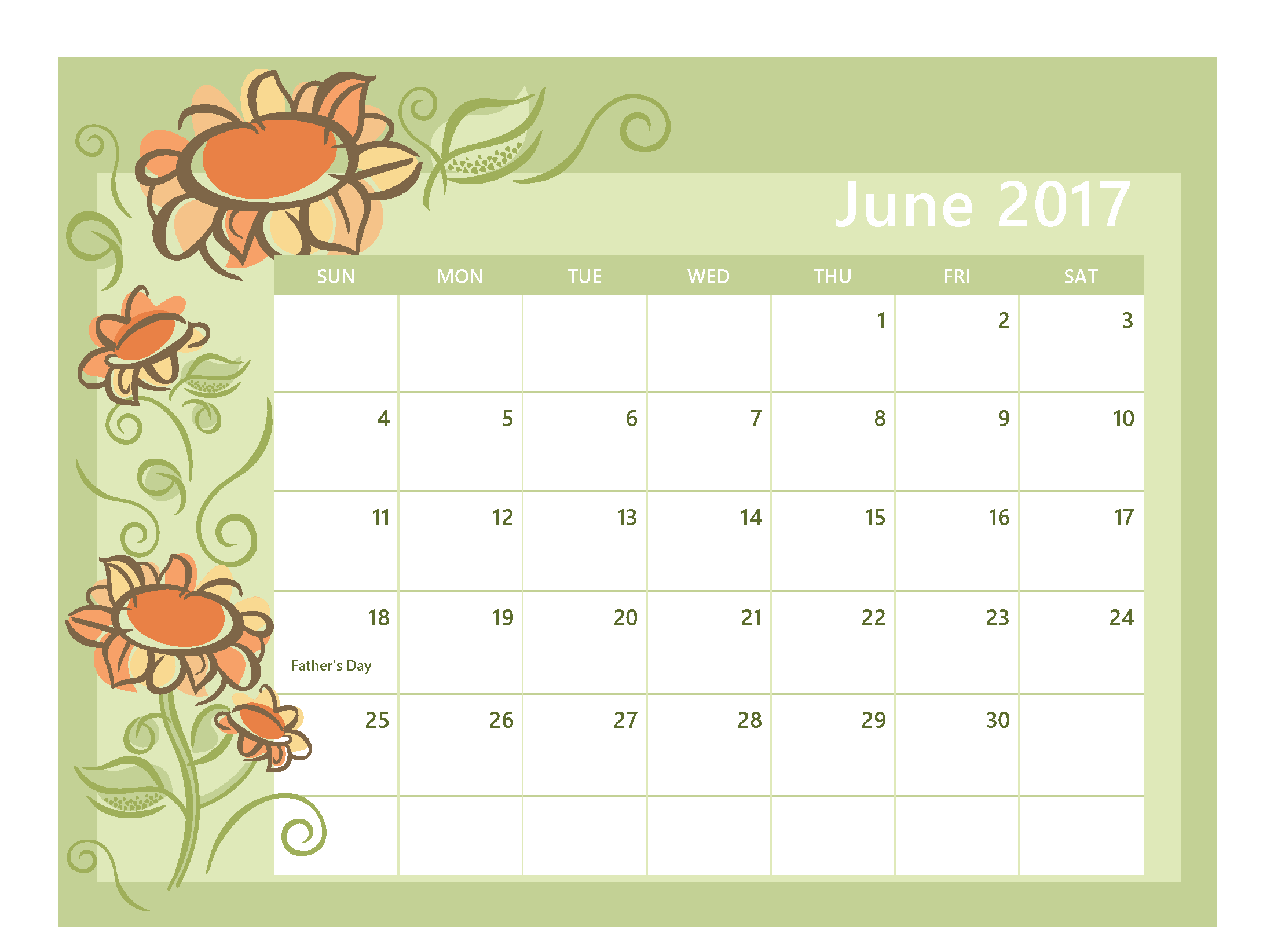 June Month 2017 Clip art Free Images Download