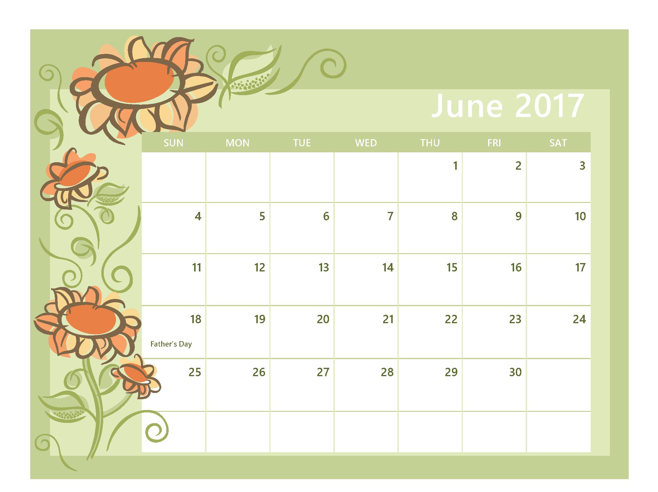 June Month 2017 Clip art Free Images Download