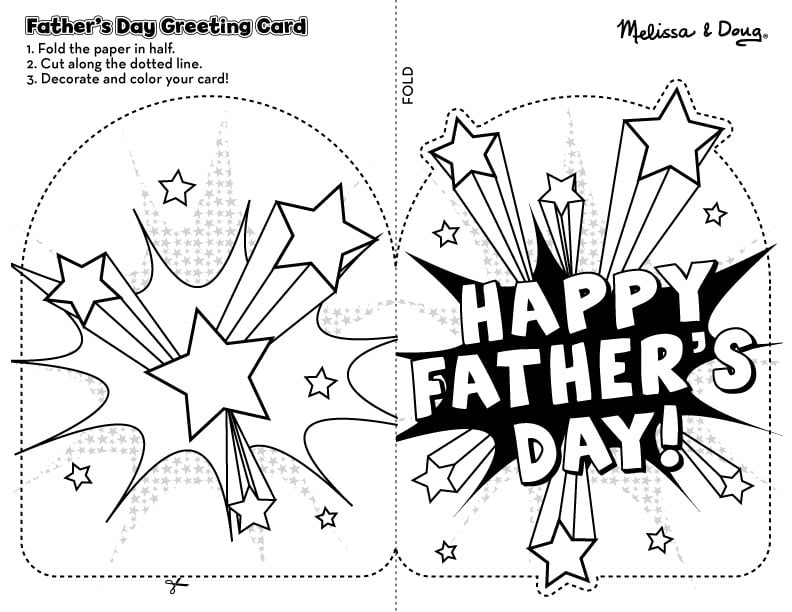 Online Homemade Fathers Day Card