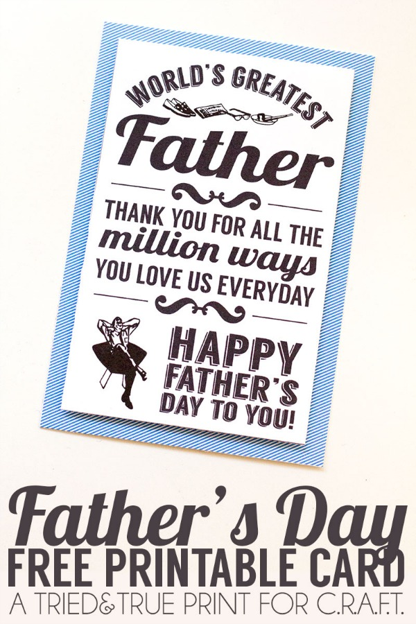 Online Printable Fathers Day Card