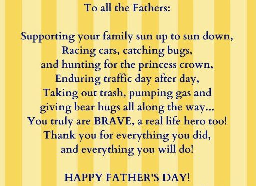 Shorts fathers day poem