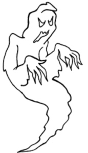 Creepy Ghost Coloring Pages