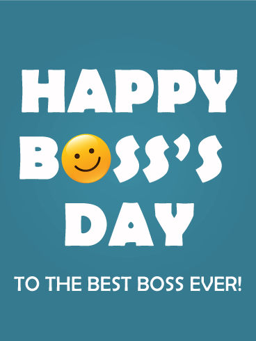 Happy Boss Day Card