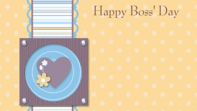 Happy Boss Day Greeting Card
