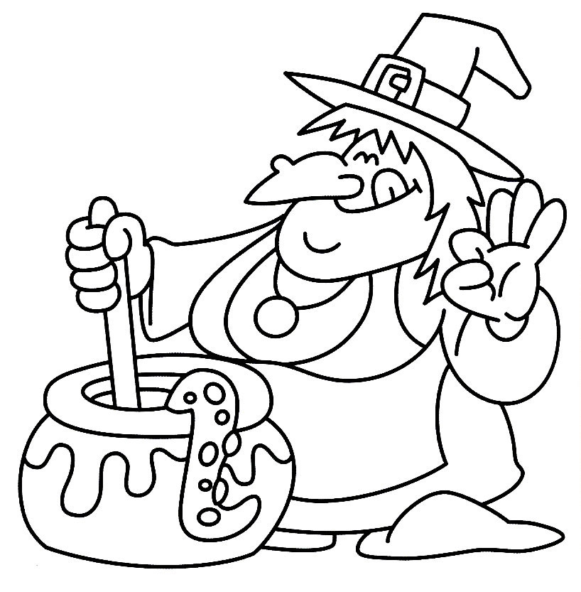 Witch Coloring Pages - Free HD Images