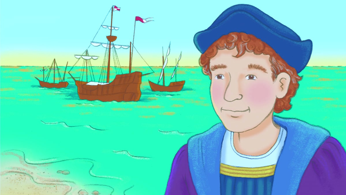 Christopher Columbus Cartoon