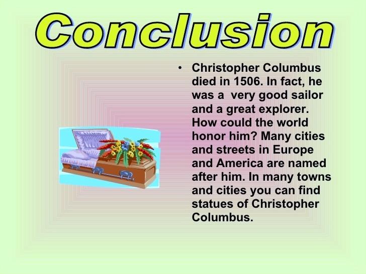 christopher columbus Conclusion