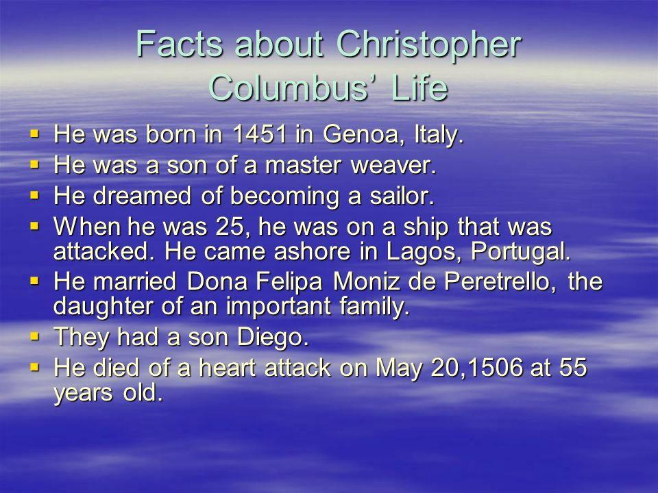 christopher columbus Life