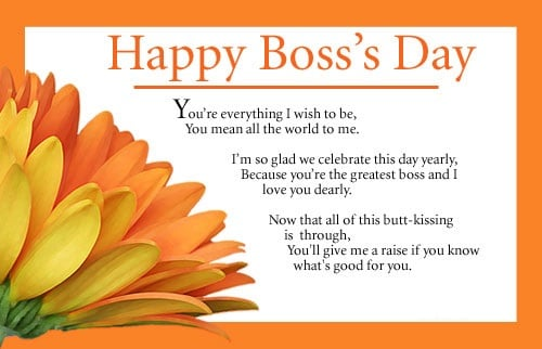 Boss Day Messages