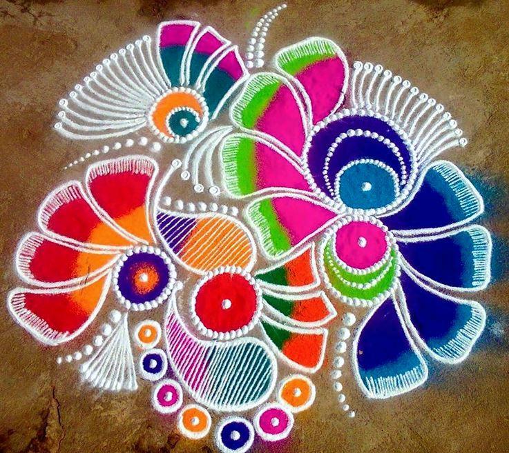 Diya Rangoli Designs