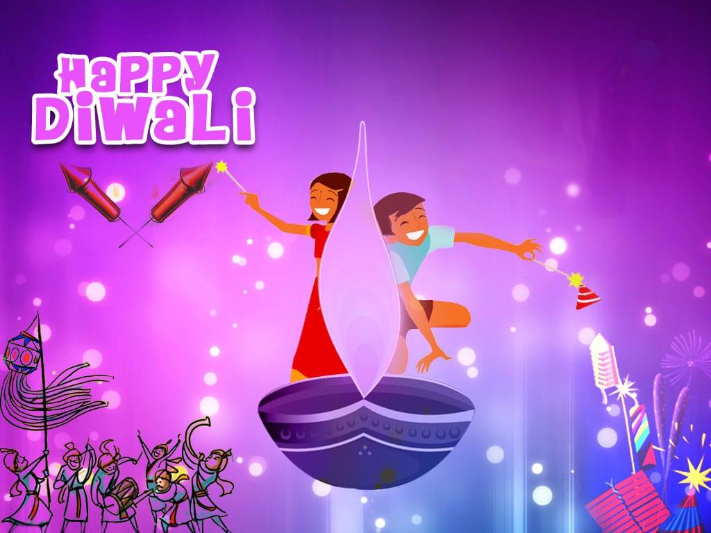 Happy Deepawali Cartoon