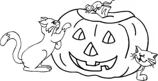 Happy Halloween Pumpkin Coloring Pages - Free HD Images