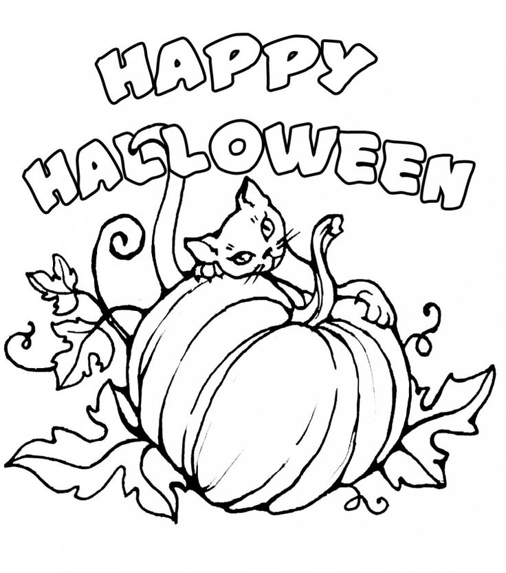 Happy Halloween Pumpkin Coloring Pages Free Hd