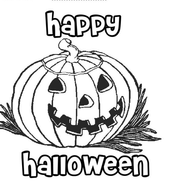 Happy Halloween Pumpkin Coloring Pages - Oppidan Library