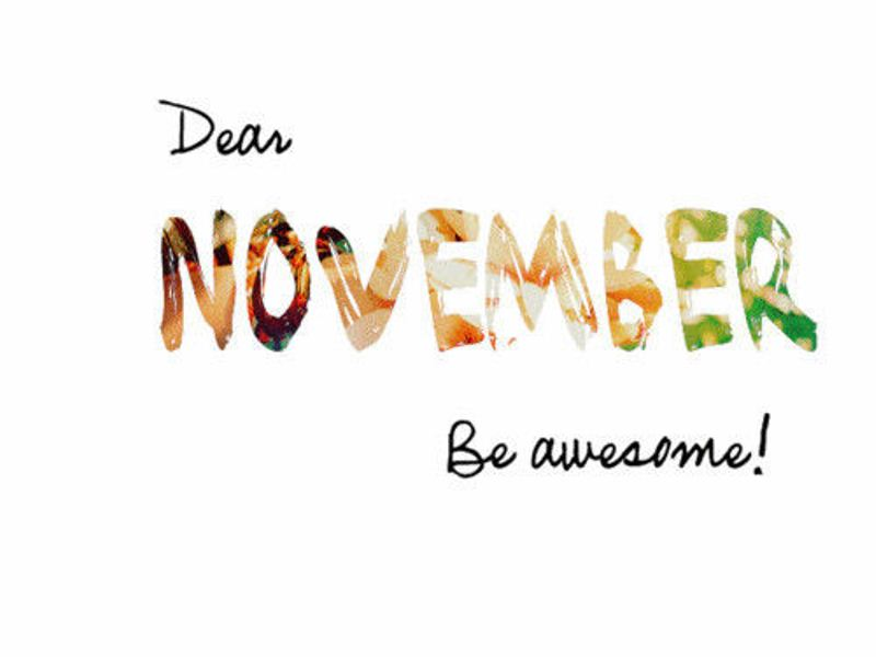 Hello November Images Printable