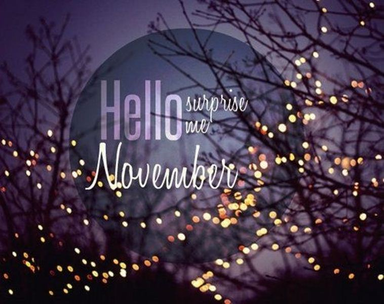 Hello November Images and Quotes Printable