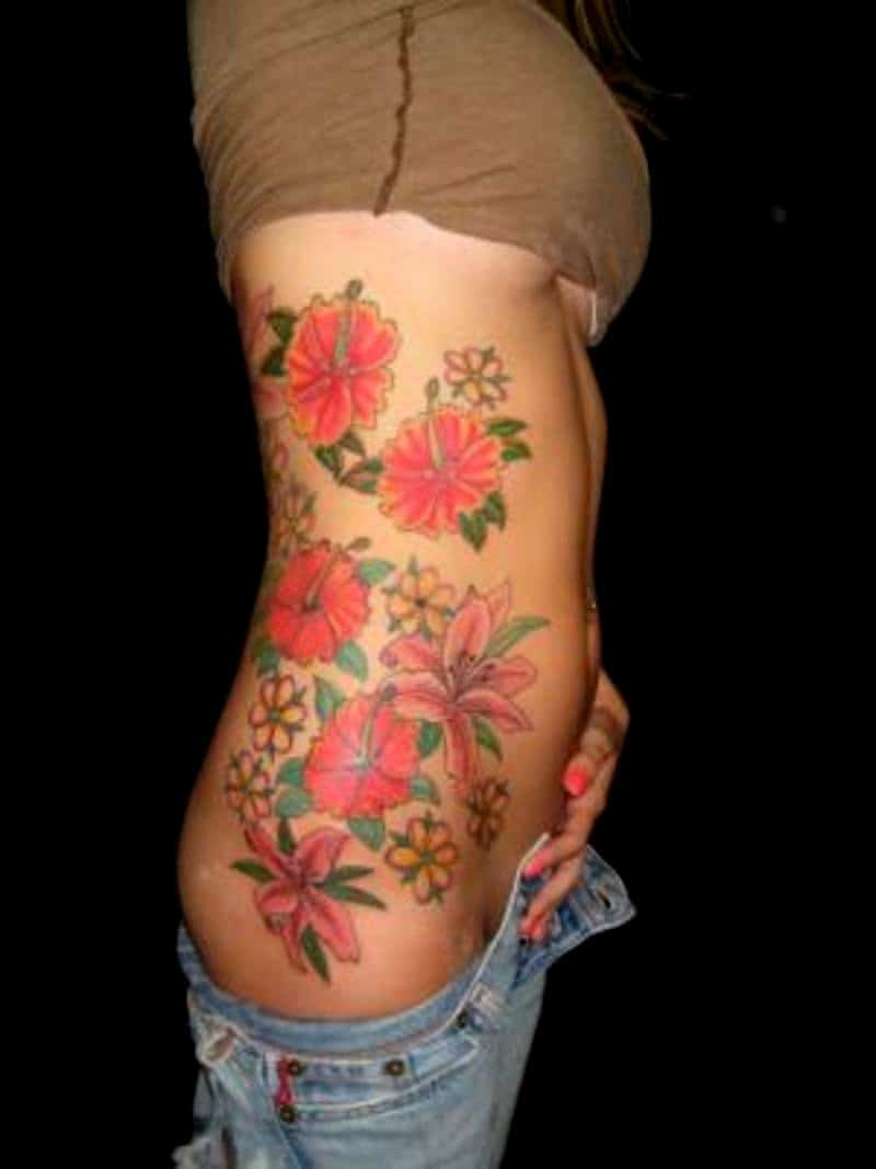 November Flower Whole Boby Tatto