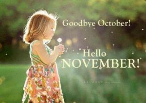 Printable Goodbye October Hello November Images Template