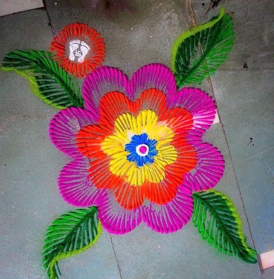 Rangoli Flower Designs