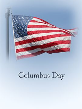 Columbus day Flag