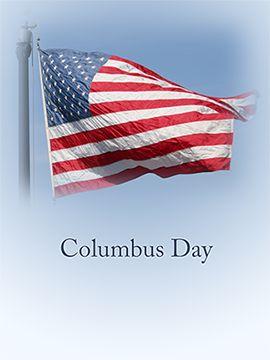 Columbus day Flag